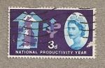 Sellos de Europa - Reino Unido -  Año Productividad Nacional