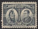 Stamps America - Honduras -  CAPITAN ALONSO DE CACERES Y GENERAL TIBURCIO CARIAS