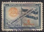 Stamps America - Honduras -  Bandera y el escudo de Honduras