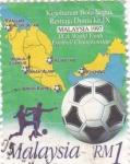 Sellos de Asia - Malasia -  Campeonato de Futbol Malasia-97