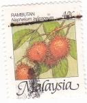 Sellos de Asia - Malasia -  FRUTAS- Rambután
