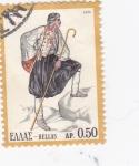 Sellos de Europa - Grecia -  Traje Típico