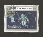 Sellos de Asia - Camboya -  25 aniv, del hombre en el espacio