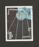 Stamps Cambodia -  Artefactos espaciales