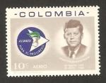 Stamps : America : Colombia :  438 - Muerte John F. Kennedy