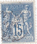 Stamps France -  Personajes
