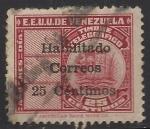 Sellos de America - Venezuela -  Sellos telegráficos recargado en Negro o Rojo