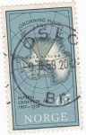 Stamps Norway -  MAPA DE LA ANTÁRTIDA