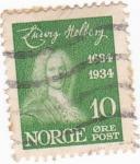 Stamps Norway -  LUDVIG HOLBERG- dramaturgo