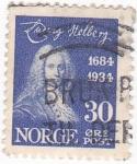 Sellos de Europa - Noruega -  LUDVIG HOLBERG- dramaturgo