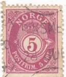 Stamps : Europe : Norway :  CORNETA Y CIFRAS