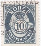 Stamps Norway -  CORNETA Y CIFRAS
