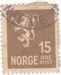Sellos del Mundo : Europa : Noruega : LEÓN RAMPANTE