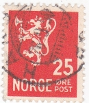 Stamps : Europe : Norway :  LEÓN RAMPANTE