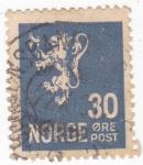 Stamps : Europe : Norway :  LEÓN RAMPANTE