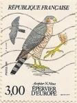 Stamps France -  Épervier d'Europe
