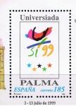 Stamps Spain -  Edifil  3647  Filatem-Universiada Palma 1999.