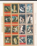 Stamps United Arab Emirates -  PINTURAS FAMOSAS- DESNUDOS-   -AJMAN