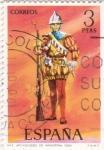 Sellos de Europa - España -  Arcabucero de Infantería 1534-UNIFORMES MILITARES   (S)