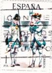 Stamps Spain -  Sargento y Granadero de Toledo 1750-UNIFORMES MILITARES   (S)