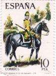 Stamps of the world : Spain :  Dragón del Regimiento de Sagunto 1775-UNIFORMES MILITARES   (S)