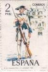 Sellos del Mundo : Europa : España : Fusilero del Regimiento de Asturias 1789-UNIFORMES MILITARES   (S)