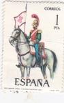 Sellos de Europa - España -  Lancero del Regimiento de Calatrava 1844-UNIFORMES MILITARES   (S)