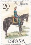 Sellos de Europa - España -  Capitán de Artillería Secciones Montadas 1862-UNIFORMES MILITARES   (S)