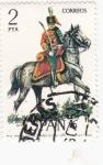 Stamps Spain -  Teniente Coronel de Húsares de Pavía 1909-UNIFORMES MILITARES   (S)
