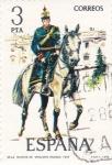 Stamps Spain -  Teniente de Artillería Rodada  1912-UNIFORMES MILITARES   (S)