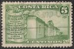 Sellos de America - Costa Rica -  VIEJA UNIVERSIDAD DE COSTA RICA, FUNDADA EN 1843.