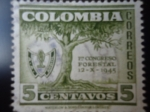 Stamps of the world : Colombia :  1 Congreso Forestal 12-X-1945