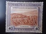 Stamps Colombia -  Departamento de Santander- TABACO