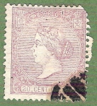 Stamps Europe - Spain -  Isabel II, Edifil 85