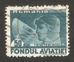Stamps Romania -  25 - Piloto de aviación