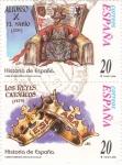 Sellos de Europa - España -  Alfonso X el Sabio y Los Reyes Católicos-HISTORIA DE ESPAÑA-(S)