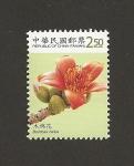 Stamps Taiwan -  Bombax ceiba