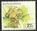 Sellos de Oceania - Australia -  BLUE MOUNTAINS TREE FROG