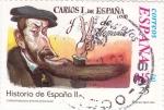Sellos de Europa - España -  Carlos I de España y V de Alemania-HISTORIA DE ESPAÑA II    (S)