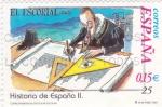 Sellos de Europa - España -  El Escorial-HISTORIA DE ESPAÑA II    (S)