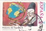 Stamps Spain -  Felipe II- HISTORIA DE ESPAÑA II    (S)