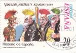 Stamps Europe - Spain -  Vándalos, Suevos y Alanos-HISTORIA DE ESPAÑA   (S)