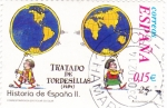 Sellos de Europa - España -  Tratado de Tordesillas-HISTORIA DE ESPAÑA II    (S)