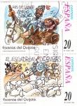 Sellos de Europa - España -  HAS DE SABER AMIGO SANCHO y EL ESCUADRÓN DE OVEJAS -Escenas del Quijote (S)