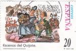 Stamps Spain -  EL DONOSO ESCRUTINIO - Escenas del Quijote (S)