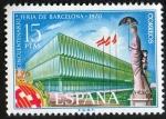 Sellos de Europa - España -  1975- Cincuentenario de la Feria de Barcelona.Palacio del Cincuentenario.