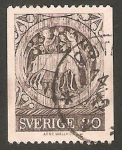 Stamps : Europe : Sweden :  650 - Pintura de la Iglesia de Dadesjo