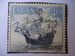 Stamps Spain -  Ed:1001-Homenaj a la Marina Española-Nao Santa María