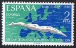 Sellos de Europa - Espa�a -  1989- XII Campeonatos europeos de nataci�n , saltos y waterpolo.
