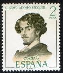 Stamps Spain -  1993-  Literatos españoles. Gustavo Adolfo Bequer.